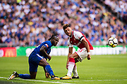 Arsenal midfielder Alex Oxlade-Chamberlain (15), Chelsea (15) Victor Moses during the FA Community Shield match between Arsenal and Chelsea at Wembley Stadium, London, England on 6 August 2017. Photo by Sebastian Frej.