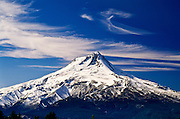 Mt. Hood and clouds, Mt. Hood National Forest, Oregon