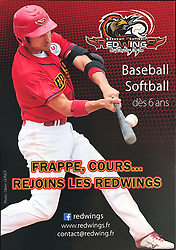 Mathieu Brau, Rennes Redwings advertising flyer, 2014.