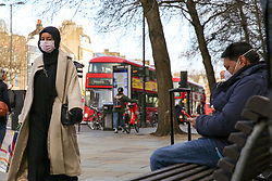© Licensed to London News Pictures. 17/03/2020. London, UK. Members of public wearing face masks in north London. Photo credit: Dinendra Haria/LNP