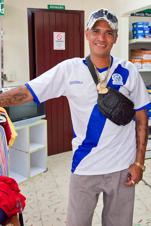 Man with tattoos in Bocas, Holguin, Cuba.