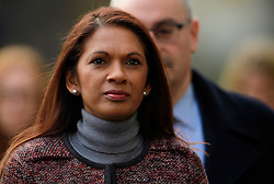 © Licensed to London News Pictures. 07/12/2016. London, UK. GINA MILLER arrives at the Supreme Court in Westminster, London for day three of a Supreme Court hearing to appeal against a November 3 High Court ruling that Article 50 cannot be triggered without a vote in Parliament. Photo credit: Ben Cawthra/LNP