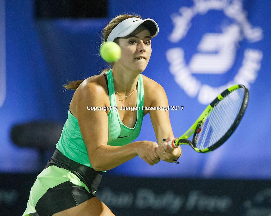 CATHERINE BELLIS (USA)<br /> <br /> Tennis - Dubai Tennis Championships 2017 -  WTA -  Dubai Duty Free Tennis Stadium - Dubai  -  - United Arab Emirates  - 24 February 2017.