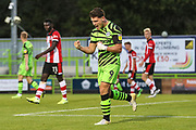 Forest Green Rovers Matty Stevens(9) scores a goal 1-1 and celebrates  during the EFL Trophy match between Forest Green Rovers and U21 Southampton at the New Lawn, Forest Green, United Kingdom on 3 September 2019.