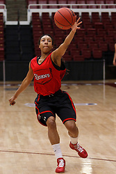March 18, 2011; Stanford, CA, USA; St. John's Red Storm guard Sky Lindsay (1) during practice the day before the first round of the 2011 NCAA women's basketball tournament at Maples Pavilion.