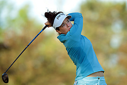 May 25, 2018 - Surrey, Michigan, United Kingdom - Joanna Klatten of France tees off on the second tee during the second round of the LPGA Volvik Championship at Travis Pointe Country Club, Ann Arbor, MI, USA Friday, May 25, 2018. (Credit Image: © Jorge Lemus/NurPhoto via ZUMA Press)