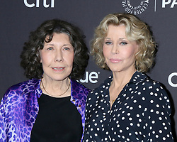 March 16, 2019 - Los Angeles, CA, USA - LOS ANGELES - MAR 16:  Lily Tomlin, Jane Fonda at the PaleyFest - ''Grace and Frankie'' Event at the Dolby Theater on March 16, 2019 in Los Angeles, CA (Credit Image: © Kay Blake/ZUMA Wire)