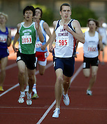 05/23/2009 - Lake Oswego's Elijah Greer (585) leads the pack to win the 6A Boy's 800 Meter Run. The 2009 OSAA/U.S. Bank/Les Schwab Tires 6A-5A-4A Track and Field State Championships were run at Hayward Field in Eugene, Oregon.....KEYWORDS:  City, Portland, sports, Oregon, high school, OSAA, boys, girls, PIL, run, University, team