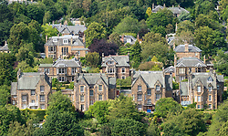 Large detached villas in upmarket Grange district of Edinburgh, Scotland, UK