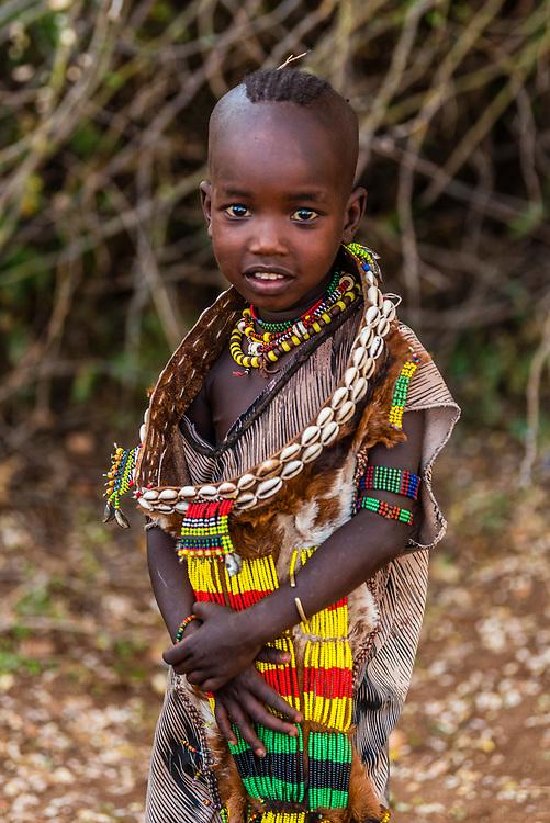 Hamer tribe girl, Omo Valley, Ethiopia.