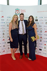 LIVERPOOL, ENGLAND - Thursday, May 12, 2016: Liverpool xxxx, xxxx and xxxx arrive on the red carpet for the Liverpool FC Players' Awards Dinner 2016 at the Liverpool Arena. (Pic by David Rawcliffe/Propaganda)