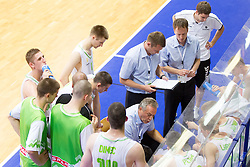 Zmago Sagadin, head coach of Slovenia during basketball match between National team of Slovenia and Italy in First Round of U20 Men European Championship Slovenia 2012, on July 12, 2012 in Domzale, Slovenia.  (Photo by Vid Ponikvar / Sportida.com)