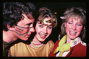 James Sainsbury, Katherine Morgan and Victoria Orr Ewing at Piers Gaveston Ball. Oxford Town Hall.1981 approx© Copyright Photograph by Dafydd Jones 66 Stockwell Park Rd. London SW9 0DA Tel 020 7733 0108 www.dafjones.com