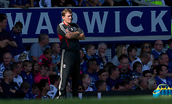 LIVERPOOL, ENGLAND - Saturday, October 1, 2011: Liverpool's manager Kenny Dalglish against Everton during the Premiership match at Goodison Park. (Pic by David Rawcliffe/Propaganda)