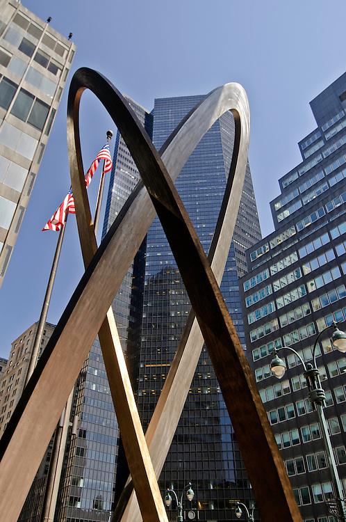 Sculpture, 90 Park Avenue, Manhattan, New York City, New York, USA