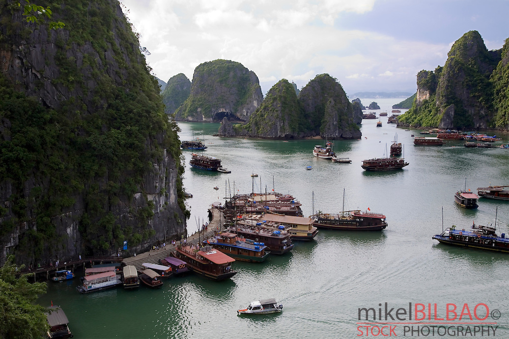 View from Hang Sung Sot Cave. Ha Long Bay. <br /> Quang Ninh province, Vietnam.