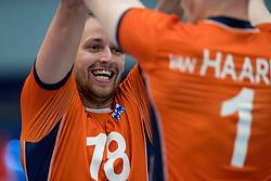 28-08-2016 NED: Nederland - Slowakije, Nieuwegein<br /> Het Nederlands team heeft de oefencampagne tegen Slowakije met een derde overwinning op rij afgesloten. In een uitverkocht Sportcomplex Merwestein won Nederland met 3-0 van Slowakije / Robbert Andringa #18