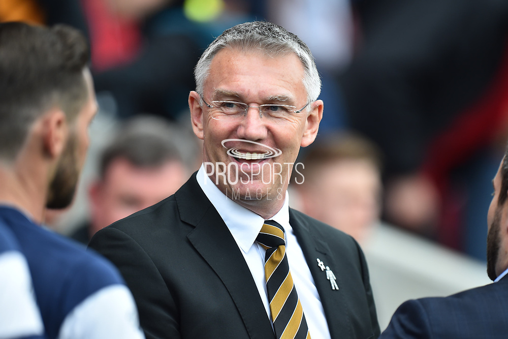 Hull City manager Nigel Adkins during the EFL Sky Bet Championship match between Bristol City and Hull City at Ashton Gate, Bristol, England on 21 April 2018. Picture by Graham Hunt.