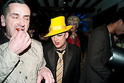 BOY GEORGE; , party to celebrate Alexander Wang at Liberty and The Androgyny Issue of LOVE, hosted by Katie Grand, Alexander Wang, and Ed Burstell of Liberty, Liberty. Great Marlborough St. London. 21 February 2011. -DO NOT ARCHIVE-© Copyright Photograph by Dafydd Jones. 248 Clapham Rd. London SW9 0PZ. Tel 0207 820 0771. www.dafjones.com.