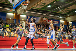 13.04.2019, SPH Walfersam, Kapfenberg, AUT, Admiral BBL, Kapfenberg Bulls vs Raiffeisen Fürstenfeld Panthers, 33. Runde, im Bild v.l.: Joshua Davis (Raiffeisen Fuerstenfeld Panthers), Xavie Ford (Kapfenberg Bulls), Elijah Wilson (Kapfenberg Bulls), David Heuberger (Raiffeisen Fuerstenfeld Panthers) // during the Admiral Basketball league, 33th round match between Kapfenberg Bulls and Raiffeisen Fürstenfeld Panthers at the SPH Walfersam in Kapfenberg, Austria on 2019/04/13. EXPA Pictures © 2019, PhotoCredit: EXPA/ Dominik Angerer