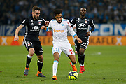 Jordan Amavi of Olympique de Marseille and Lucas Tousart of Olympique Lyonnais during the French Championship Ligue 1 football match between Olympique de Marseille and Olympique Lyonnais on march 18, 2018 at Orange Velodrome stadium in Marseille, France - Photo Philippe Laurenson / ProSportsImages / DPPI