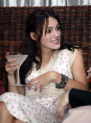 Actress Keira Knightley at The launch of The Irish Film and TV Awards 2003 in Dublin.  Funny, drunk, drinking.<br />©Mark Doyle/allaction.co.uk