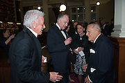 MICA ERTEGUN; SIR JOHN RICHARDSON, The London Library Annual  Life in Literature Award 2013 sponsored by Heywood Hill. The London Library Annual Literary dinner. London Library. St. james's Sq. London. 16 May 2013.