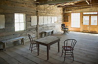 Interior saloon and barber shop, Bannack State Park Montana