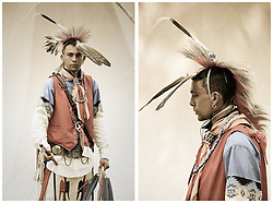 Adam Wright, Cherokee Indian, participates in the 2011 Annual Edisto Indian Natchez-Kusso Powwow in Ridgeville.