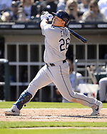 CHICAGO - APRIL 09:  Ji-Man Choi #26 of the Tampa Bay Rays bats against the Chicago White Sox on April 9, 2019 at Guaranteed Rate Field in Chicago, Illinois.  (Photo by Ron Vesely)  Subject:   Ji-Man Choi