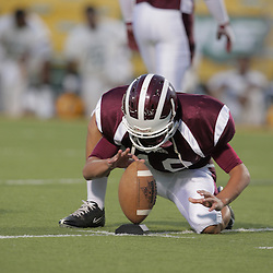 31 October, 2008:  St. Thomas Aquinas DB/WR Ross Pellichino (#19) The St. Thomas Falcons recorded their first shut out of the season with a 41-0 shutout of the Southern Lab Kittens at Strawberry Stadium in Hammond, LA.