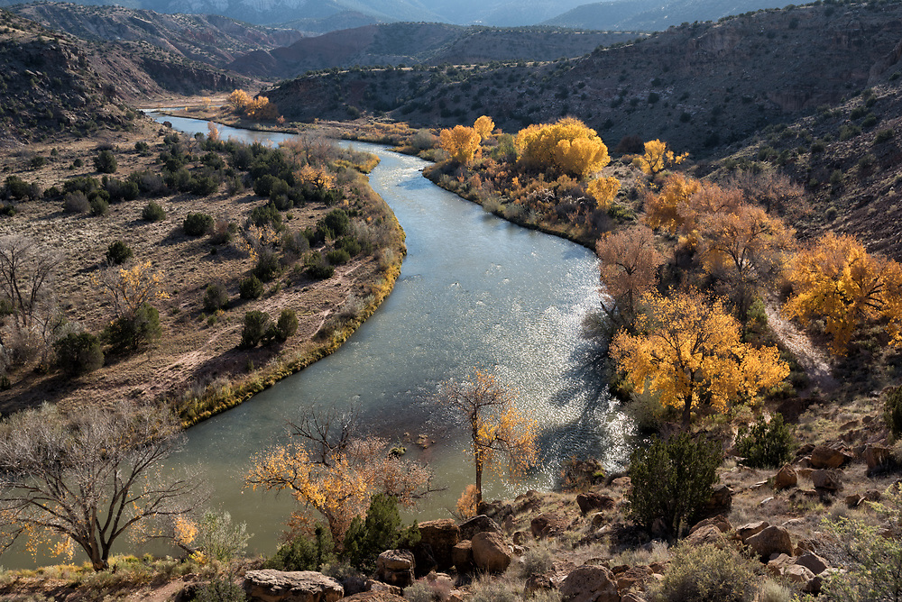 Late autumn along the Chama River, Abiquiu, New Mexico