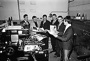 The Capitol Showband watch promotional material come off the presses at Abbey Printers..18.11.1964