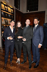Left to right, ALEX ASSOULINE, ALEXANDRA KOLASINSKI, her brother WLADIMIR KOLASINSKI and SEBASTIEN ASSOULINE at a party to celebrate the launch of the Maison Assouline Flagship Store at 196a Piccadilly, London on 28th October 2014.  During the evening Valentino signed copies of his new book - At The Emperor's Table.