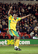 London - Saturday, January 12th, 2008: Dion Dublin of Norwich City celebrates his goal (Norwich's 3rd) during the Coca Cola Champrionship match at Oakwell, Barnsley. (Pic by Paul Hollands/Focus Images)