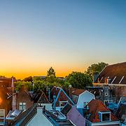 Skyline Utrecht bij vroege ochtend met Domtoren