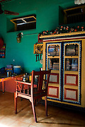 Interior of home of Mr. Abdul Kader in Nagore. South India.