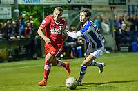 LIENDEN - 21-09-2016, FC Lienden - AZ, Sportpark de Abdijhof, AZ speler Iliass Bel Hassani, Lienden speler Abderrahim Loukili