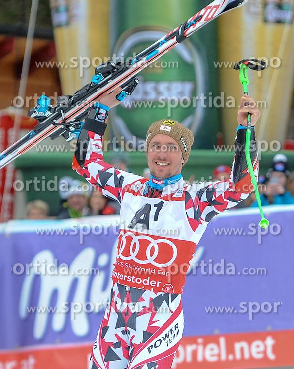 28.02.2016, Hannes Trinkl Rennstrecke, Hinterstoder, AUT, FIS Weltcup Ski Alpin, Hinterstoder, Riesenslalom, Herren, 2. Lauf, im Bild Marcel Hirscher (AUT) 2.Platz // Marcel Hirscher of Austria (second place) reacts after his 2nd run of men's Giant Slalom of Hinterstoder FIS Ski Alpine World Cup at the Hannes Trinkl Rennstrecke in Hinterstoder, Austria on 2016/02/28. EXPA Pictures © 2016, PhotoCredit: EXPA/ Erich Spiess