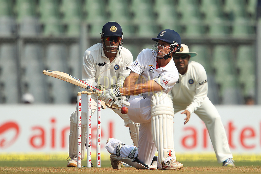 Alastair Cook - Captain of England during day 4 of the 2nd Airtel Test match between India and England held at the Wankhede Stadium in Mumbai, India on the 26th November 2012...Photo by Ron Gaunt/ BCCI/ SPORTZPICS..Use of this image is subject to the terms and conditions as outlined by the BCCI. These terms can be found by following this link:..http://www.sportzpics.co.za/image/I0000SoRagM2cIEc