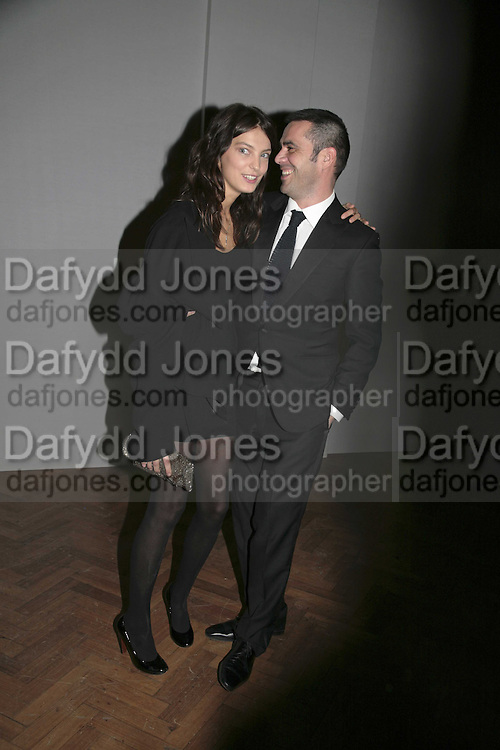 Daria Werbowy and Roland Mouret, 6th Annual LancÈme Colour Designs Awards In association with CLIC Sargent Cancer Care.  Lindley Hall, Vincent Sq. London. 28 November 2006.  ONE TIME USE ONLY - DO NOT ARCHIVE  © Copyright Photograph by Dafydd Jones 248 Clapham Rd. London SW9 0PZ Tel 020 7733 0108 www.dafjones.com