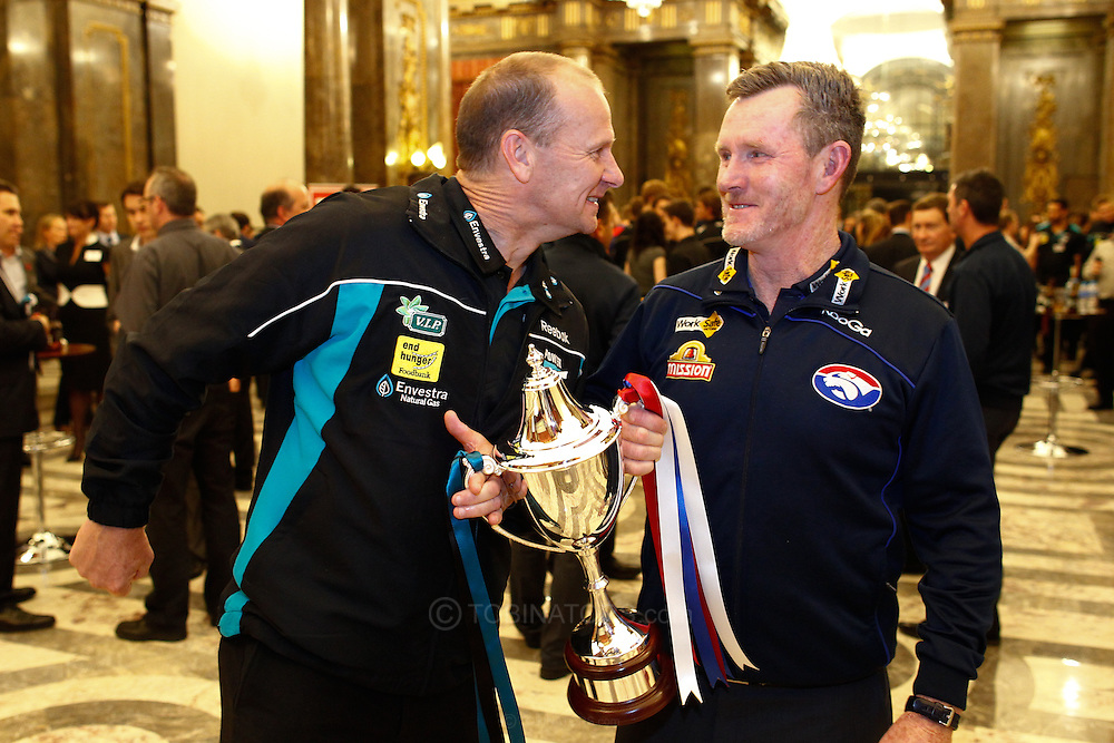 Picture by Andrew Tobin/SLIK images +44 7710 761829. 1st November 2012. .Ken Hinkley and Brendan McCartney at the Western Bulldogs and Port Adelaide teams reception at Australia House, London, ahead of Saturday's AFL European Challenge at Kia Oval in London, UK