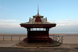 UK ENGLAND LANCASHIRE BLACKPOOL 1DEC04 - A changing booth on Blackpool Promenade overlooks the empty beach. ....jre/Photo by Jiri Rezac....© Jiri Rezac 2004....Contact: +44 (0) 7050 110 417..Mobile:  +44 (0) 7801 337 683..Office:  +44 (0) 20 8968 9635....Email:   jiri@jirirezac.com..Web:    www.jirirezac.com....© All images Jiri Rezac 2004 - All rights reserved.