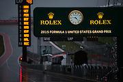 October 23-25, 2015: United States GP 2015: Rain on the pitlane on Saturday morning.