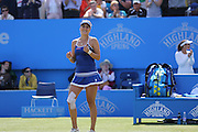 Belinda Bencic of Switzerland after her victory during the Aegon International Final between Belinda Bencic of Switzerland and Agnieszka Radwanska at Devonshire Park, Eastbourne, United Kingdom on 27 June 2015. Photo by Phil Duncan.