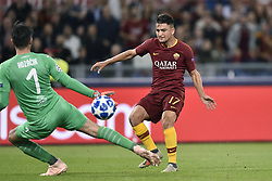 October 2, 2018 - Rome, Rome, Italy - Cengiz Under of AS Roma scores third goal during the UEFA Champions League group stage match between Roma and FC Viktoria Plzen at Stadio Olimpico, Rome, Italy on 2 October 2018. (Credit Image: © Giuseppe Maffia/NurPhoto/ZUMA Press)