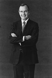December 1, 1981 - Washington, District of Columbia, U.S. - U.S. President Ronald Wilson Reagan's, Vice-President GEORGE HERBERT WALKER BUSH smiling with his arms folded. (Credit Image: © Michael A. W. Evans/ZUMAPRESS.com)