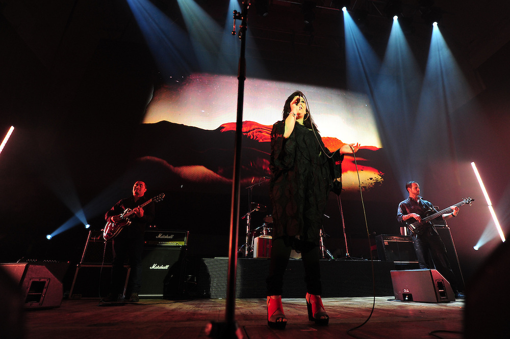 Kirsten Te Rito performing at the APRA Silver Scroll Awards 2012. Auckland Town Hall. 13 September 2012.