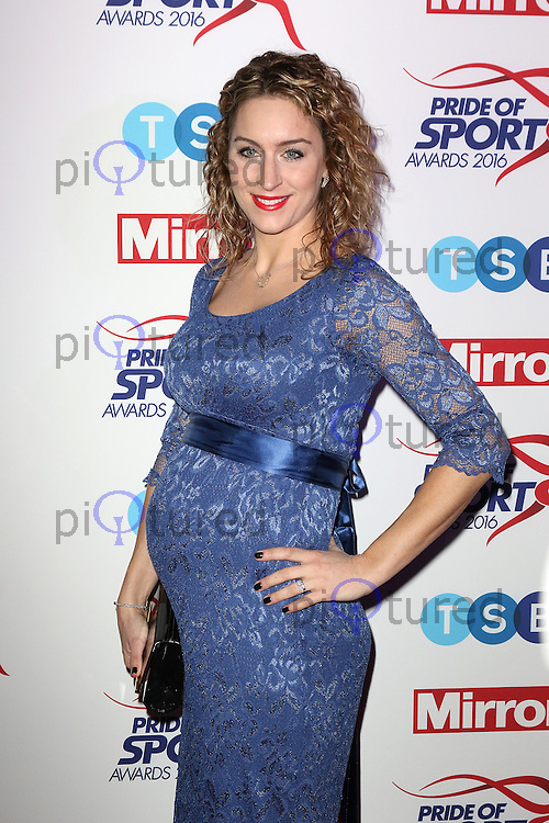 Amy Williams, Pride of Sport Awards, Grosvenor House Hotel, London UK, 07 December 2016, Photo by Richard Goldschmidt