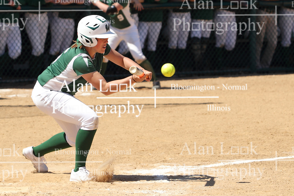 11 April 2015:   Mary Rankin during an NCAA Division III women's softball game between the Washington University Bears and the Illinois Wesleyan Titans in Bloomington IL